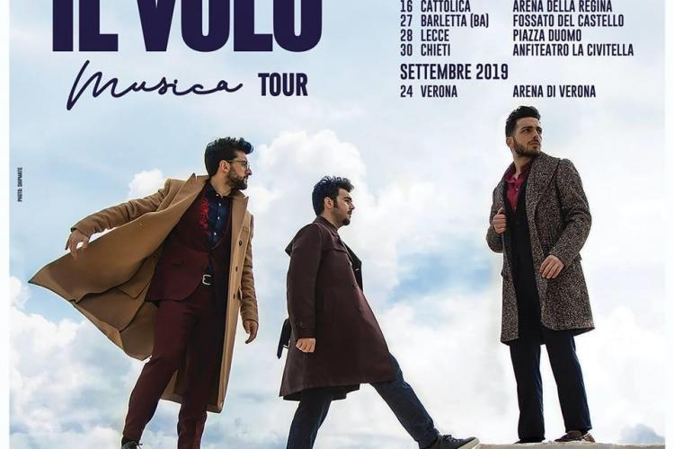 """IL VOLO"" IN CONCERTO ALL'ANFITEATRO LA CIVITELLA DI CHIETI"